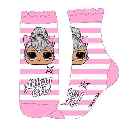 """Eplusm Lányok magas zokni """"LOL"""" MGA - rózsaszín - 23–26"""