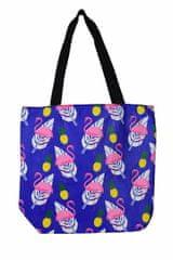 GOLDSUN Dámska plážová taška Plameniak a ananás modrá