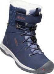 KEEN Hoodoo III MID WP Y dekliški usnjeni čevlji, blue nights/redwood