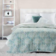 My Best Home Prehoz na posteľ PRINT 200x220 cm - MINT, prešívaný