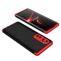 GKK 360 Full Body műanyag tok Xiaomi Mi 10 Lite, fekete/piros