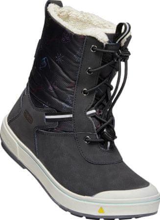 KEEN otroški škornji Kelsa Tall WP, black/tibetan red, 29, črni