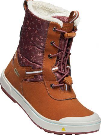 KEEN Kelsa Tall WP otroški škornji caramel cafe/harbor gray, 25,5, oranžni