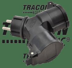 Tracon Electric Zásuvka rozbočka 230V 16A schuko TICS-212GD IP44 Tracon electric