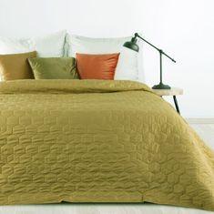 My Best Home Prehoz na posteľ HEXAGON 220x240 cm horčicová