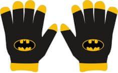 """Eplusm Chlapčenské prstové rukavice """"Batman"""" - čierna"""