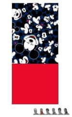 """Eplusm Detský zateplený nákrčník """"Mickey Mouse"""" - 24x56cm - červená"""