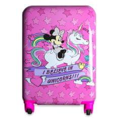 """Eplusm Detský cestovný kufor ABS na kolieskach """"Minnie mouse"""" - ružová"""