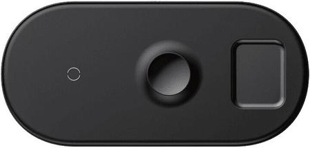 BASEUS ładowarka Smart 3w1 iPhone + Apple Watch + AirPods (18W MAX) WX3IN1-C01, czarny