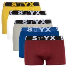Styx 5PACK pánské boxerky sportovní guma vícebarevné (G96860616265)