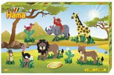 Hama korálky Velká dárková sada - Safari Midi
