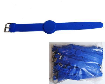 MIFARE® 25 kos Silikonskih zapestnic v obliki ure z RFID čipom MIFARE® Classic EV1 1K - Modre barve
