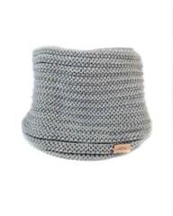 Lasoul Pletený nákrčník Grey podšitý fleecem