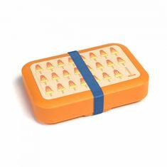 DBP Plastics DBP Box na svačinu s gumičkou oranžový Nanuk