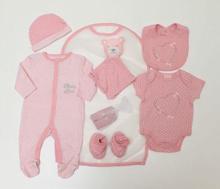 Just Too Cute Ajándék szett lányoknak - szívecske, rózsaszín, 68