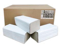 BM plus Ručníky papírové skládané Z-Z PrimaSoft Standard 1-vrstvé šedé, 5000ks