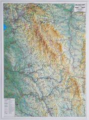 Excart Orlické hory - plastická nástěnná mapa