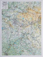 Excart Jizerské hory a Český ráj - plastická nástěnná mapa