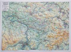Excart Českosaské Švýcarsko - plastická nástěnná mapa