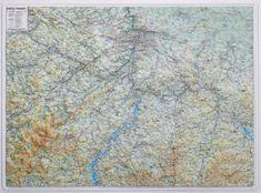 Excart Okolí Prahy - plastická nástěnná mapa
