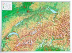 Georelief Švýcarsko - plastická nástěnná mapa