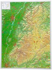 Georelief Schwarzwald - plastická nástěnná mapa