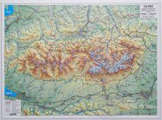 Excart Tatry - plastická nástěnná mapa