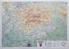 Excart Slovensko - plastická nástěnná mapa
