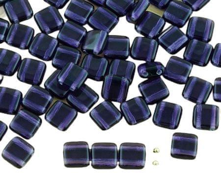 Kraftika 40db kristály lila sötét tanzanite csempe lapos négyzet 2