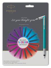 Parker Vector Wow nalivno pero, turkizno