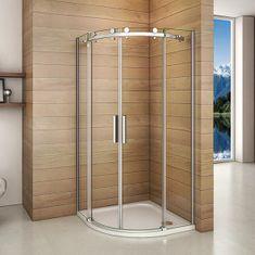 H K Štvrťkruhový sprchovací kút DIAMOND S4 90 cm s dvojdielnymi posuvnými dverami L/P variant