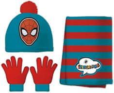 Disney chlapecký set čepice, šála, rukavice Spider man