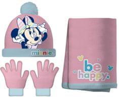 Disney dívčí set čepice, šála, rukavice Minnie
