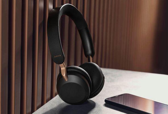elegantne usnjene slušalke jabra elite 45h vzdržljivost do 50h polnilni gumbi za fizični nadzor zložljivi dizajn briljantni zvok 40mm pomnilniški uhani slušalke