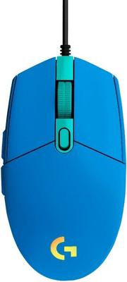 Herní myš Logitech G102 Lightsync, modrá (910-005801) senzor 8 000 DPI