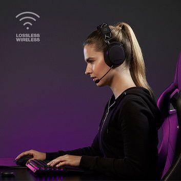 Słuchawki Arctis 9, czarne (61484), bezprzewodowe Wi-Fi Bluetooth
