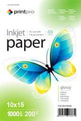PrintPro Fotopapier PrintPro Vysoko lesklý 200g/m²,1000ks,10x15