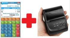 EET-POS mobilní pokladna + mobilní tiskárna 5802LD