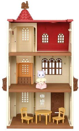 Sylvanian Families dom z wieżą i czerwonym dachem
