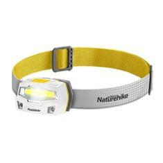 Naturehike COB LED fejlámpa, USB töltés, 85g - fehér