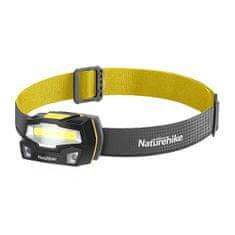 Naturehike COB LED fejlámpa, USB töltés, 85g - fekete