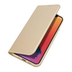 Dux Ducis Skin Pro knížkové kožené pouzdro na iPhone 12 mini, zlaté