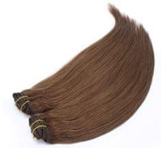 Clip-Vlasy-Levne.cz Clip in maxi set 43cm pravé lidské vlasy - REMY 140g - středně hnědá