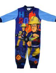 SETINO Fiúk sötét pizsama kezeslábas - Tűzoltó Sam - világoskék