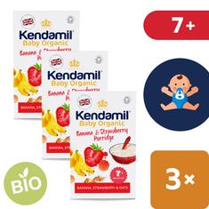 Kendamil Dětská bio/organická kaše banán & jahoda 7+ (3x150 g)
