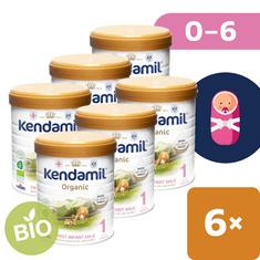Kendamil kojenecké BIO mléko 1 (6x 800 g) DHA+