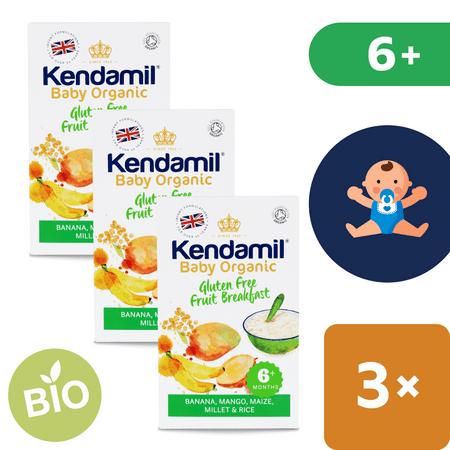 Kendamil Gluténmentes bio/organikus gyümölcskása 6+ (150 g)