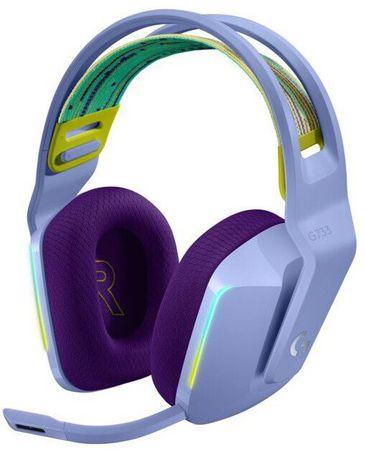 Logitech G733 Lightspeed brezžične slušalke, vijolične