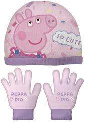 Disney dívčí set čepice a rukavice Peppa pig