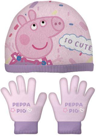 Disney dekliški set kape in rokavic Pujsa pipa